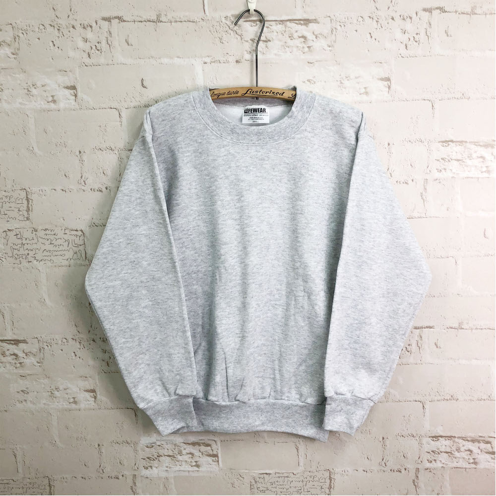 Made In USA 8oz SWEATSHIRTS-CREW 【LIFEWEAR】