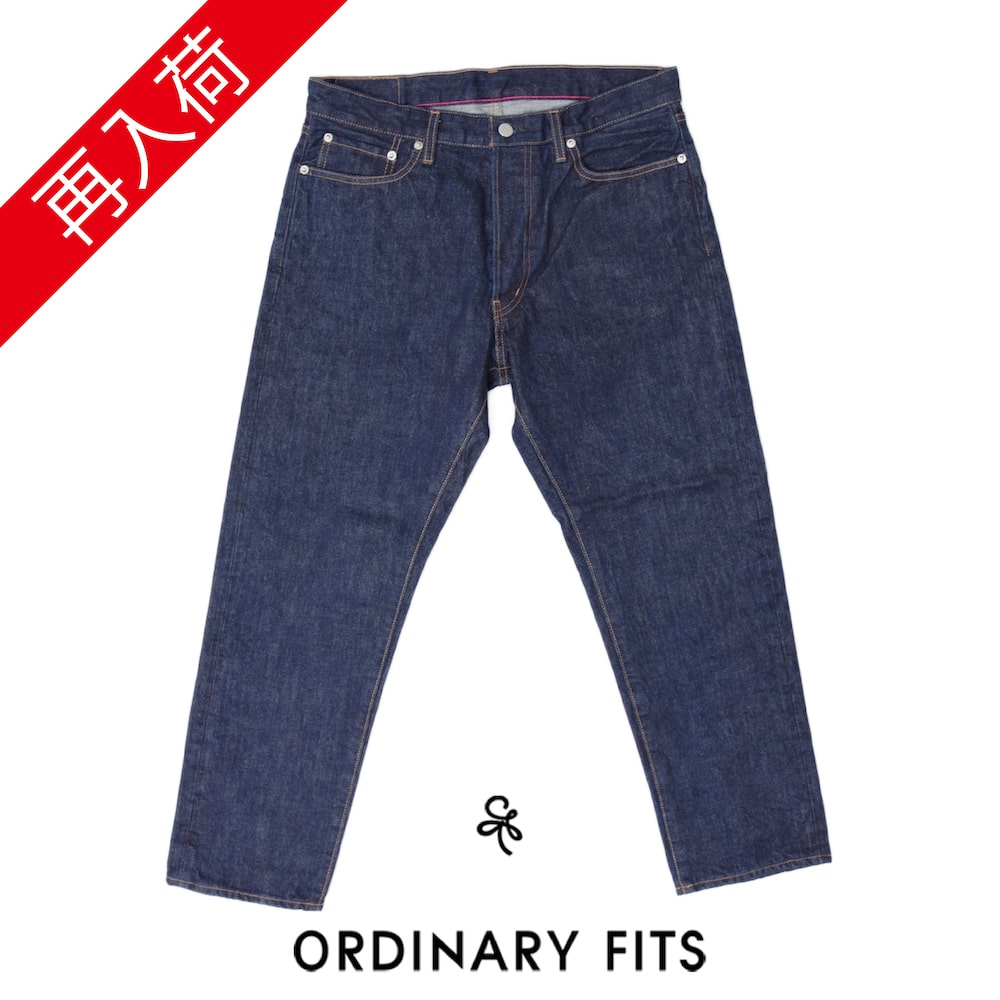 【ORDINARY FITS(オーディナリーフィッツ)】5PKT ANKLE DENIM one wash 5ポケット アンクルデニム ワンウォッシュ
