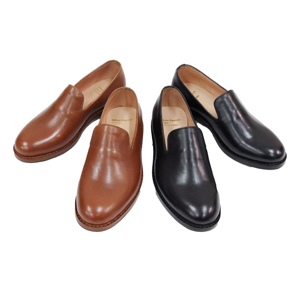 レザースリッポンシューズ rubber sole 【Milton Keynes】