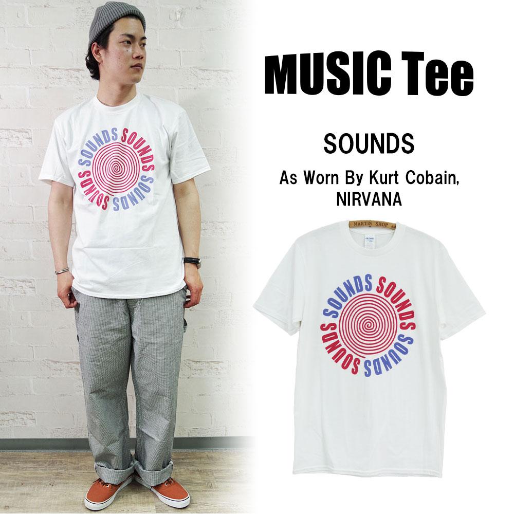 SOUNDS (As Worn By Kurt Cobain, NIRVANA) 【MUSIC Tee】