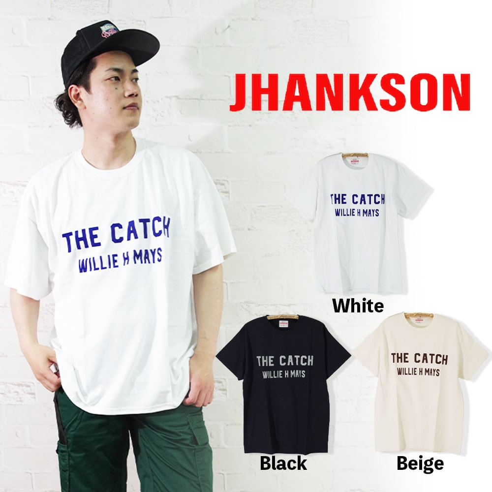 【JHANKSON(ジャンクソン)】S/S Tee THE CATCH ザ キャッチ