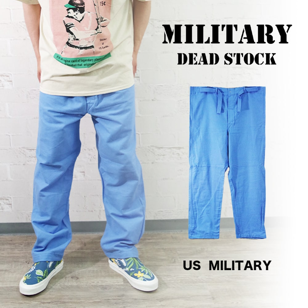 US ARMY 1967DEADSTOCK HOSPITAL PANTS 【MILITARY DEADSTOCK】