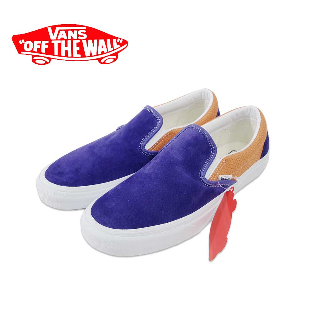 【VANS(バンズ)】Classic Slip-On Royal Blue/Apricot Buffクラシックスリッポン