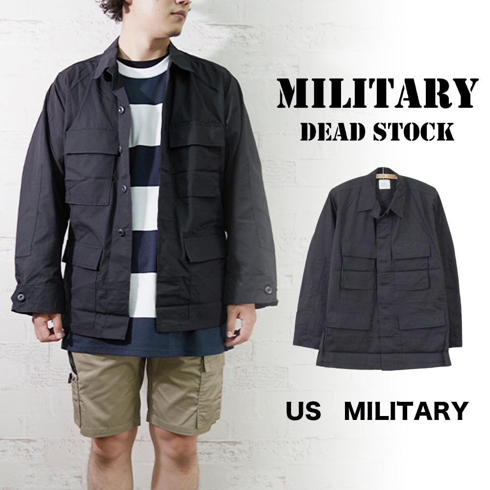 【MILITARY DEADSTOCK(ミリタリーデッドストック)】US ARMY BDU Jacket BLACK357 Deadstock ユーエスアーミーBDU ブラック357デッドストック