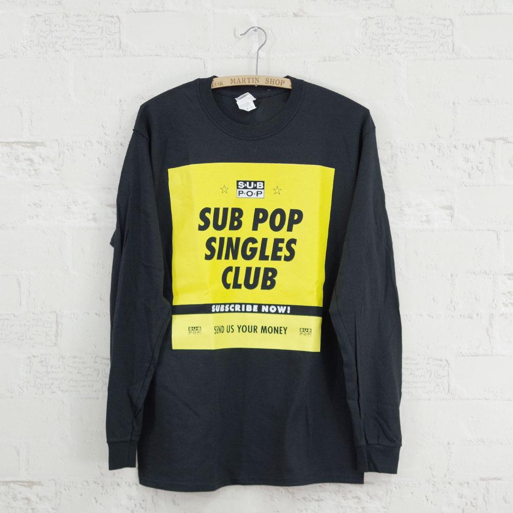 【MUSIC Tee(ミュージックティー)】L/S Tee SINGLES CLUB-SUB POP レコードハンズ サブポップ